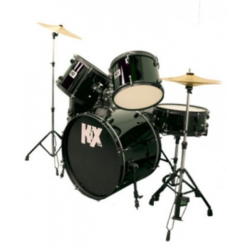 KIX UK complete Rock Drum Kit with cymbals and hardware