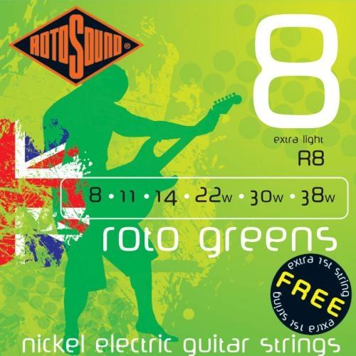 Rotosound - ROTO GREEN, 8 - 38