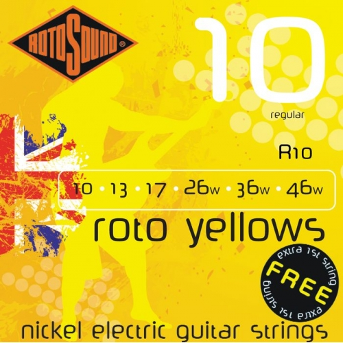 Rotosound - ROTO YELLOWS, 10 - 46