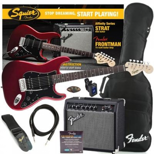 Squier - Affinity Series, HSS Stratocaster, PACK SUNBURST/CANDY RED